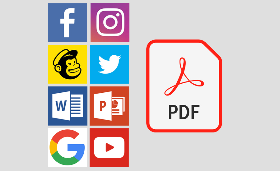 Design for interactive PDFs and social media