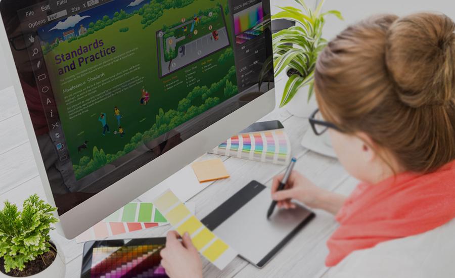 Print pre-press artwork and graphic design studio