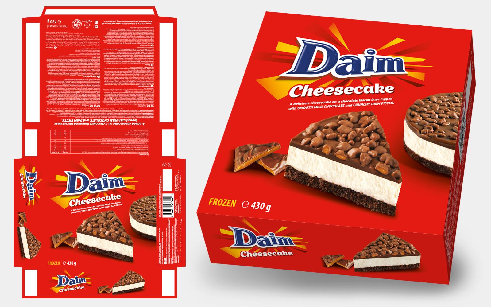 cheesecake packaging artwork design