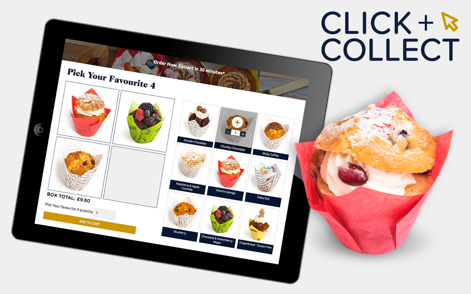 Click and collect website